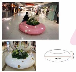 椅子花盆一体定做玻璃钢材质