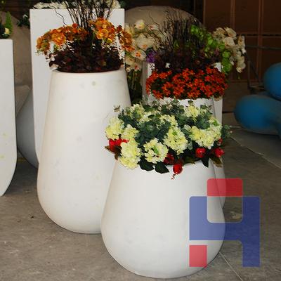 现代玻璃钢落地花盆