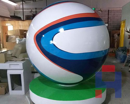 玻璃钢球形雕塑