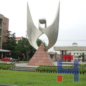 不锈钢公司标志雕塑