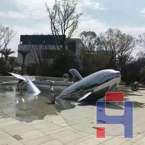 不锈钢雕塑鲸鱼