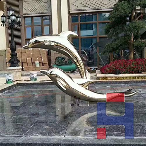 不锈钢雕塑海豚