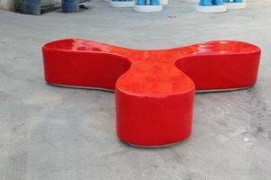 异性三角商场休闲椅