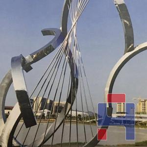 不锈钢镜面抽象异形雕塑