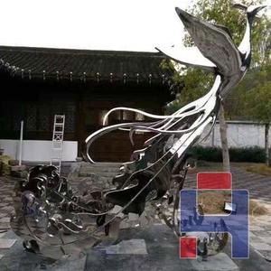 不锈钢孔雀雕塑