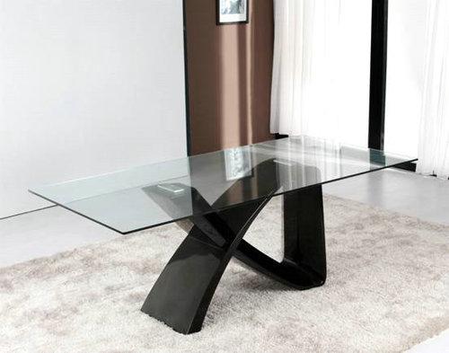 玻璃钢餐桌+玻璃