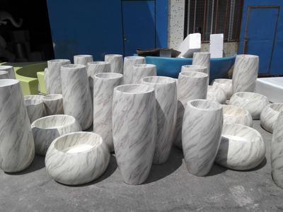 玻璃钢防大理石花盆