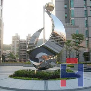小区不锈钢标志雕塑